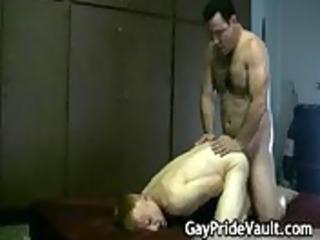 hard gay bear drilling and licking gay porno