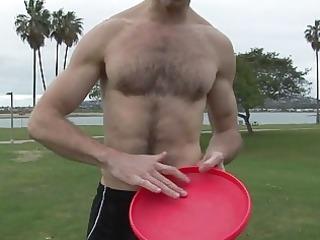 bushy gay bear exposes off his inflexible