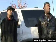 blacks thugs breaking down sissy clean men 11