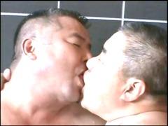 japanese daddy inside hot bath