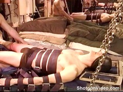 gay slave takes his dick tortured and his balls