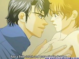 anime gay kisses and acquires gangbanged