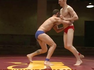 gays wrestling and fucking after match