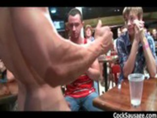 large bunch  acquires horny in the disco 3 gays
