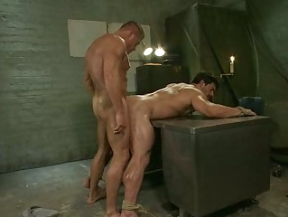 stiff army gay hunk had tortured with electricity