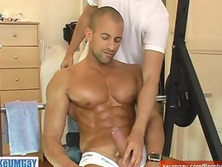 natural sport guy gue wanked his big libido by a