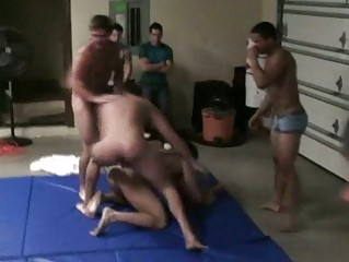 wrestling gay studs inside act