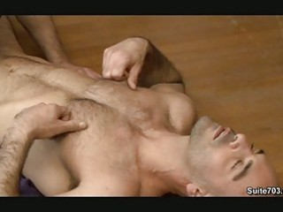 bald gay hunk blows large penis inside position 69