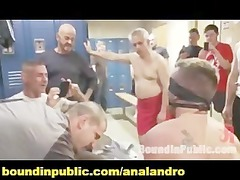 ex-military gets fucked into the crowded locker