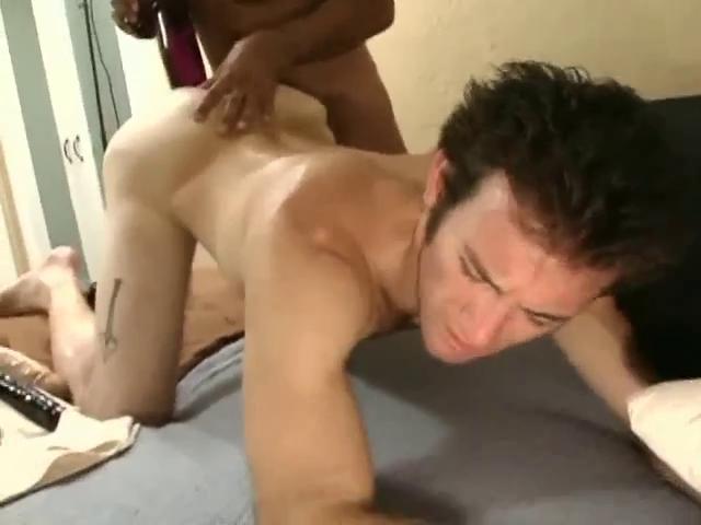 sensual black haired gay fella takes a giant sex