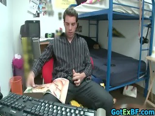 hot ex lover caught jerking his lovely gay dudes