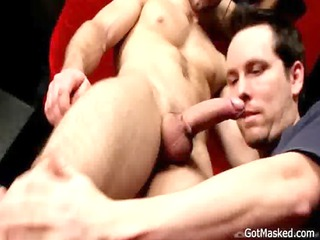 dude drops his load over himself gay porn