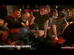 bondage blindfolded gay group fellatio inside gay