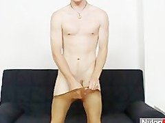 slim nylon man carl using a boy sex vibrator