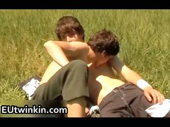 cute american twinks drilling and jerking