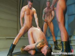 extreme gay bdsm group sex video part2