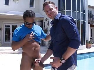 gay stud enjoys with himself