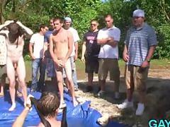 old gays gang bang during massage