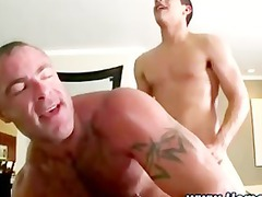straight dick cums after butt drilling