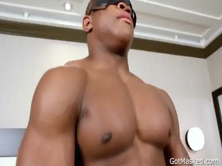 dark beauty jerking his amazing libido gay porno