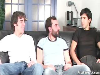 andy takes his initial huge plump gay cock gay men
