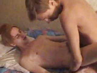 two slender gay men getting nude and shagging