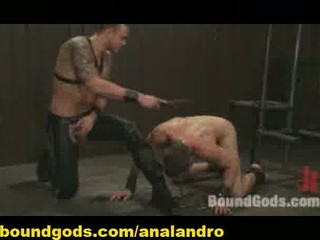 two bound gay slaves bdsm trained and humiliated