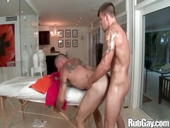 rubgay muscle male on giant man
