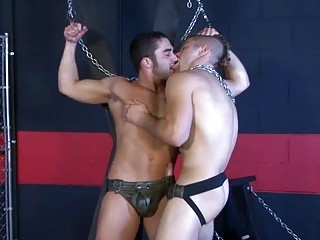 gay studs into leather clothes go mad