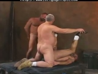 elderly fuckers inside a 3some gay fuck gays gay