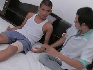 gay medic acquiring advances on cute eastern  guy