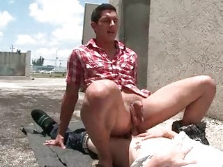 gays arse gangbanging on an alley