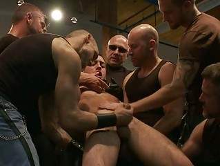 tattooed muscled gay boy likes being dominated