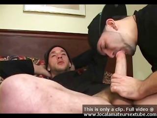 gay gang banger licks on a big libido and does