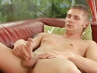 solo handjob for grownup gay male