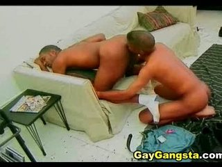 negro gays adore taut butt aperture pounding