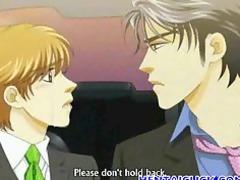 anime gay having a kiss and sex joy