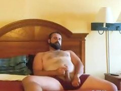 paja de oso barbudo bearded bear wanks inside