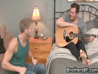 brothers slutty fucker obtains cock gay men