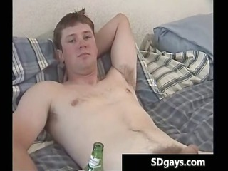 one stud jerking his heavy gay sausage
