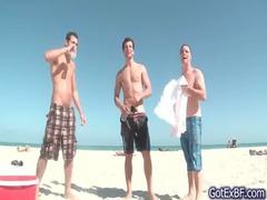 extremely impressive gay triple under shower gays