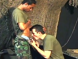 two gay army studs having tough ass pounding