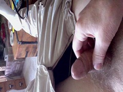 67 year granny jerk off and white cream
