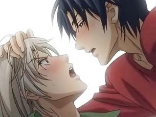 naughty anime gay kisses n bottom copulates