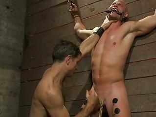 naughty gay guy had his libido roped and blown