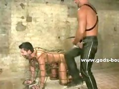 gay woman bound into ropes employing his oral and