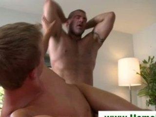gay masseuse deflowers straight man