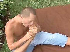 naughty gay pleasuring his penis into the park