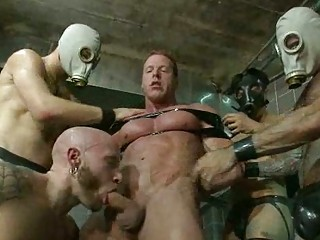 handsome gay fellow abused by desperate masked