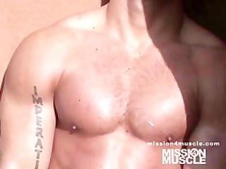 gay muscle love sperm filling in